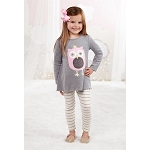 Mud Pie Owl Tunic & Leggings Set