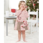 Mud Pie Striped Reindeer Dress