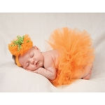 Mud Pie Pumpkin Headband & Tutu Set