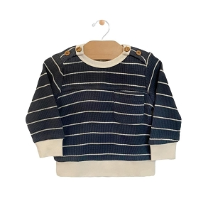 Storm Cloud Stripe Pullover