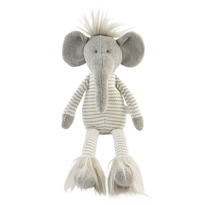 Mud Pie Knit Elephant Doll - Small
