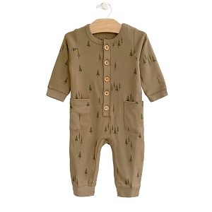 Evergreem Button Romper