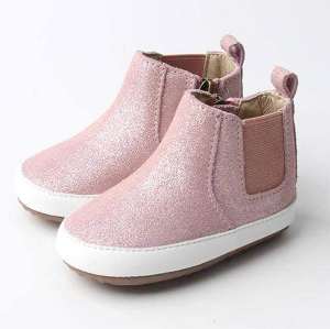 Blush Sparkle Zip Boot