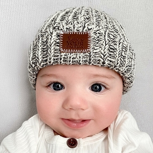 Baby Cuffed Beanie - Speckled