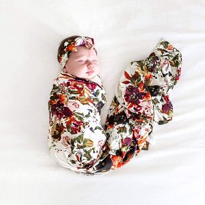 Posh Peanut Corinne Swaddle & Headband Set