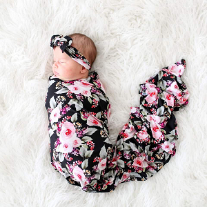 Posh Peanut Milana Swaddle & Headband Set