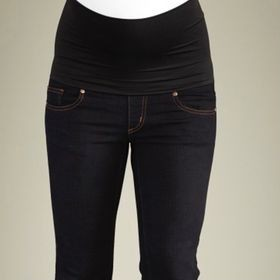 Belly Support Boot Cut Jeans- Black