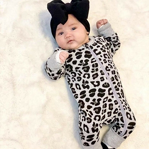 Leopard 2 Way Zip Romper