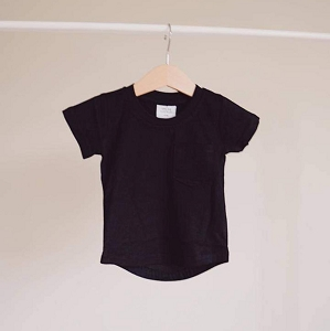 Black Brushed Cotton Tee