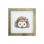 Watercolor Frame Print - Hedgehog