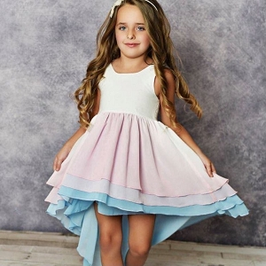 Ombre Hi-Lo Frills Dress