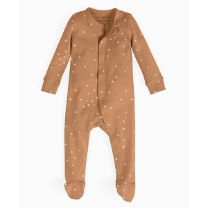Organic Long Sleeve Footed Ginger Dot Sleeper