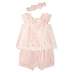 Pink Eyelet Bloomer Outfit