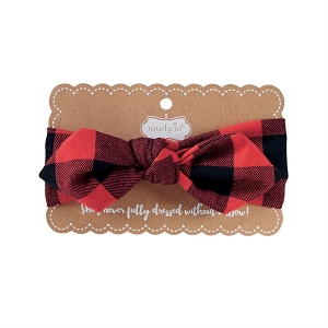 Mud Pie Buffalo Check Bow Headband