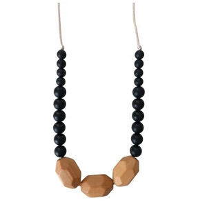 Austin Teething Necklace - Black