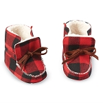 Mud Pie Buffalo Check Booties