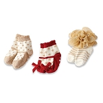 Mud Pie Red Sparkle Sock Set