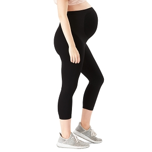 Bump Support  Capri Leggings - Black