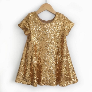 Gold Holiday Sparkle Dress
