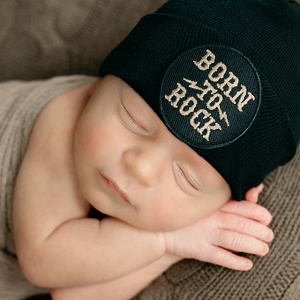 Born To Rock Newborn Hat
