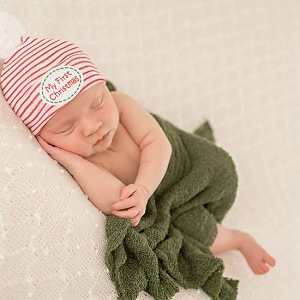 My First Christmas Newborn Beanie