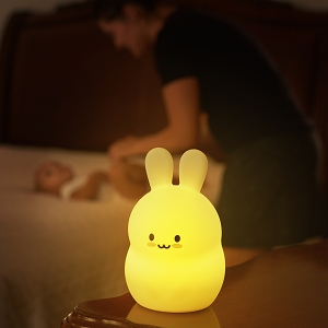 LED Bunny Night Light with Remote