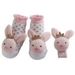 Mud Pie Wrist & Sock Rattle Set - Bunny