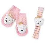Mud Pie Wrist & Sock Rattle Set - Bear