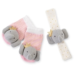 Mud Pie Wrist & Sock Rattle Set - Elephant