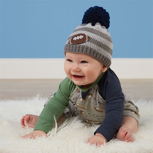 Football Baby Knit Hat