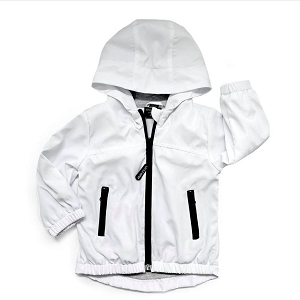 White Windbreaker