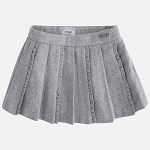 Mayoral Girls Grey Pleated Skirt