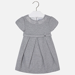 Mayoral Girls Grey Collared Dress