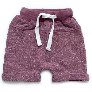 Plum Washed Harem Shorts