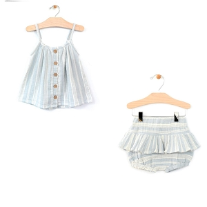 Stripes Woven Flowy Top & Skirted Bloomer