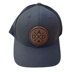 Dada X Charcoal Leather Patch Hat