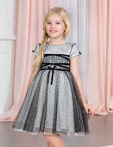 Tulle Dress - Black and shimmer