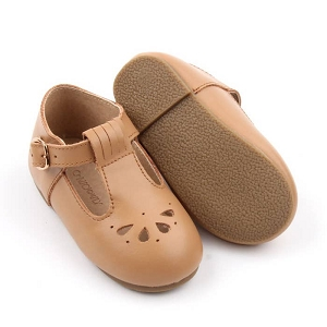 Hard Sole Toddler Leather T-Bar