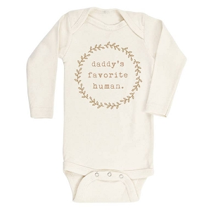 Daddy's Clay Favorite Human Organic Long Sleeve Onesie