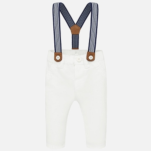 Baby Suspender White Pants