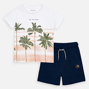Palm Tree Shirt & Bermuda Shorts