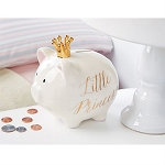 Mud Pie Gold Princess Piggy Bank