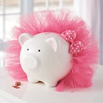 Mud Pie Tutu Piggy Bank