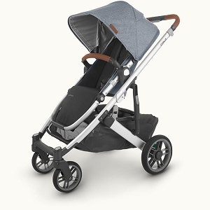 2020 UPPAbaby Cruz V2 Stroller - Gregory (Blue Melange/Silver/Saddle Leather)