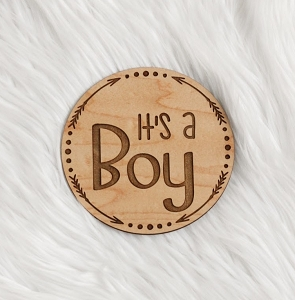 It's a Boy! Wood Arrow Pendant