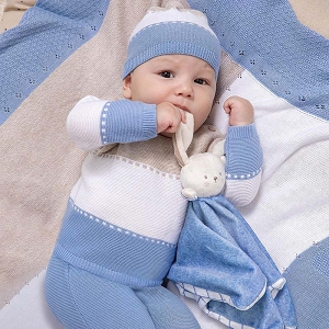 Mayoral Sky Blue Knit Set