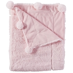 Mud Pie Pom Pom Blanket - Pink