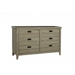 Brixy - Oak Park 6 Drawer Dresser in Shale