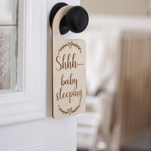 Door Hanger - Shhh....baby sleeping