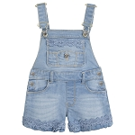 Mayoral Girl's Denim Overall Shorts